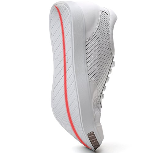 CHAMARIPA Elevator Shoes Men's Breathable Mesh Leather Sneakers 2.36'' Taller H71C26K175D 173#white Leather buy cheap largest supplier tumblr for sale SR2o0ri