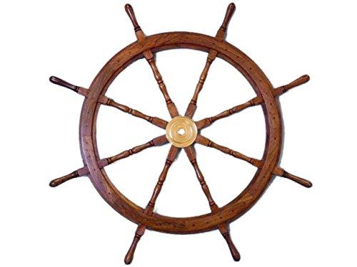 Sailor's Special Premium Ship Wheels | Home Decor Wall Sculptures | 36 (Antique Ships Wheel)