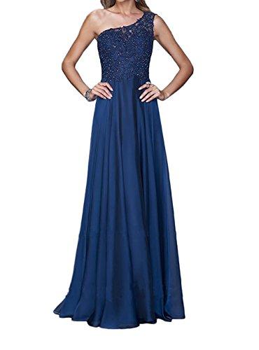 Tuerkis Blau Navy La Braut Spitze Traeger Ballkleider Ein Lang Marie Brautmutterkleider Pailletten Abendkleider Chiffon qwZCw7ExnO