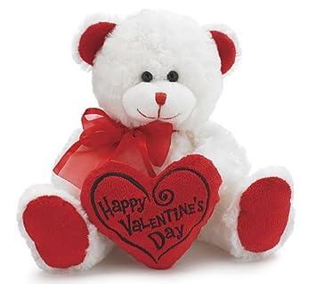 Außergewöhnlich Happy Valentineu0027s Day Bear 8u0026quot; Animal Plush  White With Red Message  Pillow