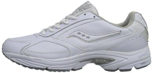 Saucony Men's Grid Omni Walking Shoe,White/Silver,9 M