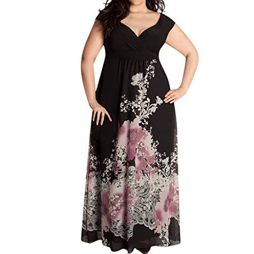 Black Sexy Dress for Women-Fashion Summer V-Neck Off-Shoulder Leisure Retro Party Printed Long Dresses