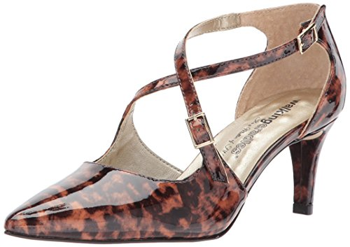 Cradles Women's Leather Leopard Walking Patent Stella Pump SAqdPw