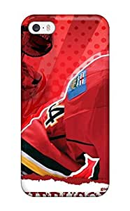 Rugged Skin Case Cover For ipod Touch 4 - Eco-friendly Packaging(hockey Nhl Calgary Flames Miikka Kiprusoff D )(3D PC Soft Case)
