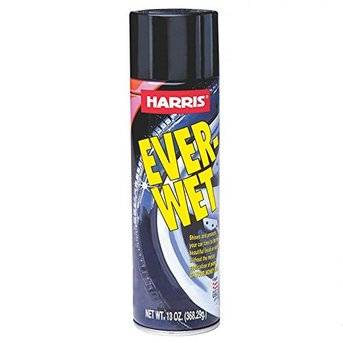 Harris corporation Ever Wet Spray Tire Shine, Silicone based tire shine, Non splatter, Wet look finish, Long lasting, New tire, Tire cleaner and protectant