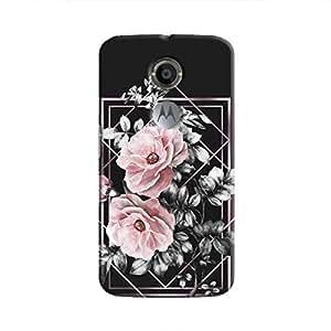 Cover It Up - Framed Flowers Moto X2 Hard Case