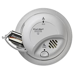 First Alert BRK SC-9120B Hardwired Smoke and Carbon Monoxide Alarm with Battery Backup