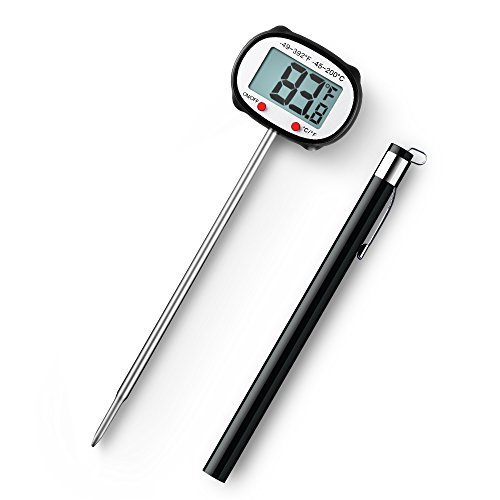 Habor Instant Read Digital Cooking Thermometer with Auto Shut-Off for Meat, Grill, BBQ, Candy