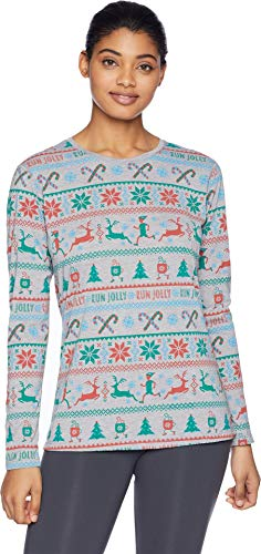 (Brooks Women's Holiday Distance Long Sleeve Heather/Sterling XX-Large)