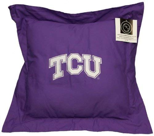 NEW! Texas Christian University Throw Pillow Embroidered NCAA Pillow 20