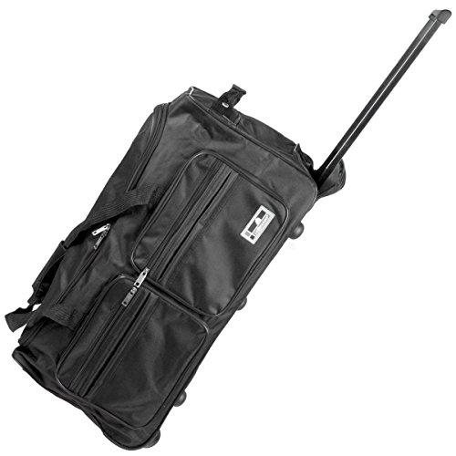 Reisetasche mit Rollen, leichte Sporttasche mit Trolley-Funktion inklusive Schloss, 90 Liter Reisetasche XXL