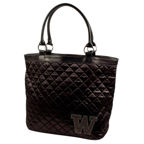NCAA Washington Huskies Sport Noir Quilted Tote, Black