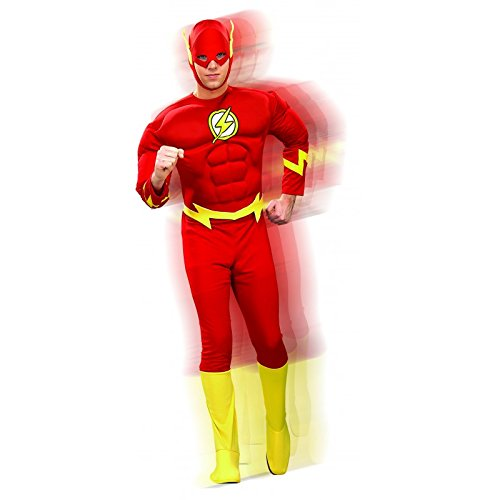 (DC Comics Deluxe Muscle Chest The Flash(Adult) Red)