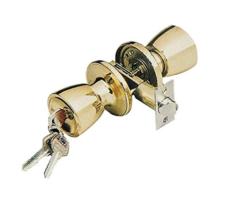 DuraSecure Simple Elegance Keyed Entry Door Lock with Adjustable Latch (2-3/8
