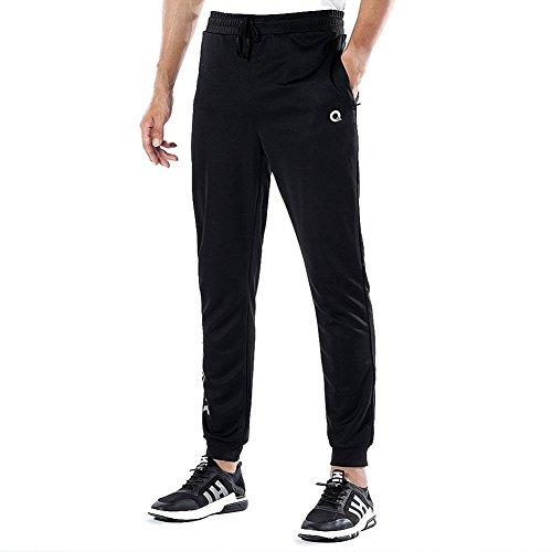 Soccer Warm Up Pants (Ogeenier Men's Warm up Track Pants Soccer Training Pants with Non-slip Zipper Pocket, Comfortable Mens Running Jogging Sweat Pants)