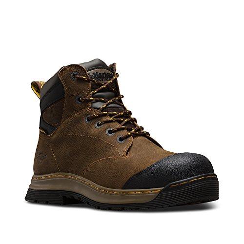 Dr. Martens Men's deluge EH ST 6 Eye Work Boots, Brown, Leather, Rubber, 9 M UK, 10 M US