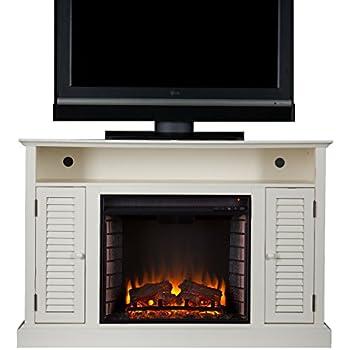 Amazon.com: SEI Antebellum Media Console with Electric Fireplace ...