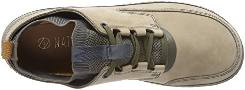 Clarks Herren Nature IV Sneaker Grün (Khaki Combi)