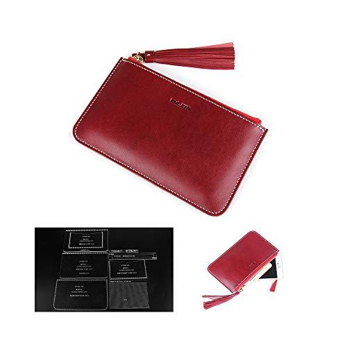 WUTA Women's Leather Zipper Clutch Acrylic Template Set Pattern for Handcraft Handbag Series WT839 -