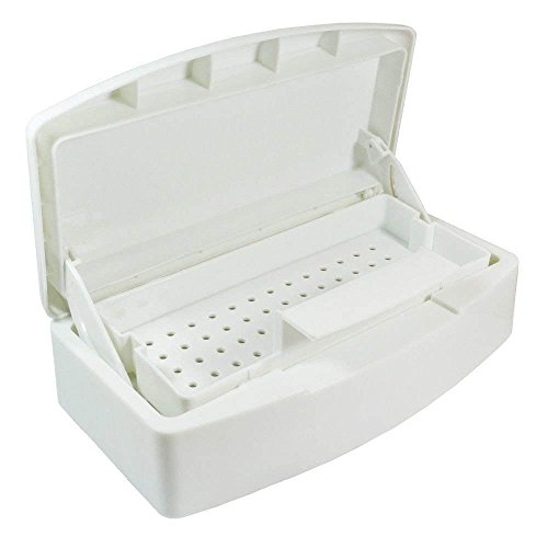 TOPHOWER@ Nail Sterilization Box Alcohol Plastic Disinfection Nail Tray Easy Cleaner Sterilizator For Cutter Manicure Tools Set