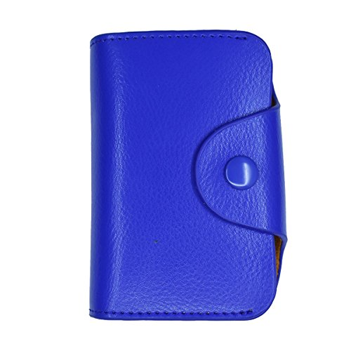 - Laimi Duo Womens Credit Card Holder Slim Genuine Leather Wallet RFID Blocking Coin Protector Case (Blue)