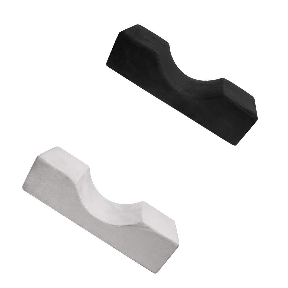 OurLeeme Eyelash Pillow Blanc Profession Extension de Cils Oreiller /à Extension Ergonomique Mousse /à m/émoire de Forme Ergonomique Oreiller Doux et Confortable pour Une beaut/é /à greffer