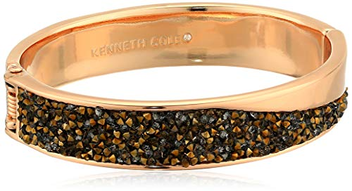 Kenneth Cole Women's Sprinkle Stone Hinged Bangle Bracelet, Rose Gold, One Size