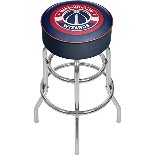 Trademark Gameroom NBA Washington Wizards Padded Swivel Bar Stool by Trademark Gameroom