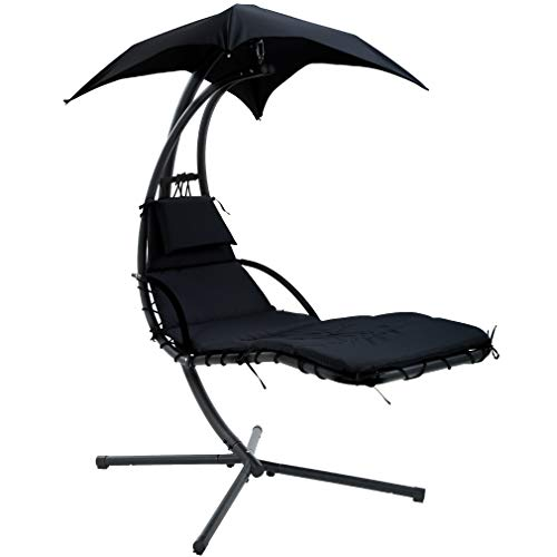 Hammock with Stand Lounge Chair Outdoor Chair Patio Swing Chair for Adults Hanging Chairs Free Standing Floating Bed Furniture Backyard Garden