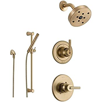 Delta Trinsic Champagne Bronze Shower System with Normal Shower ...