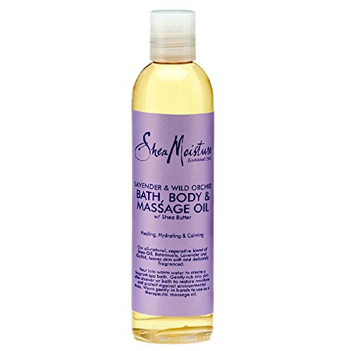 SheaMoisture Lavender/Wild Orchid Bath, Body & Massage Oil, 8 Ounce