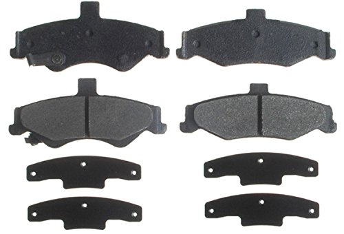 (ACDelco 14D750CH Advantage Ceramic Rear Disc Brake Pad Set with Hardware)