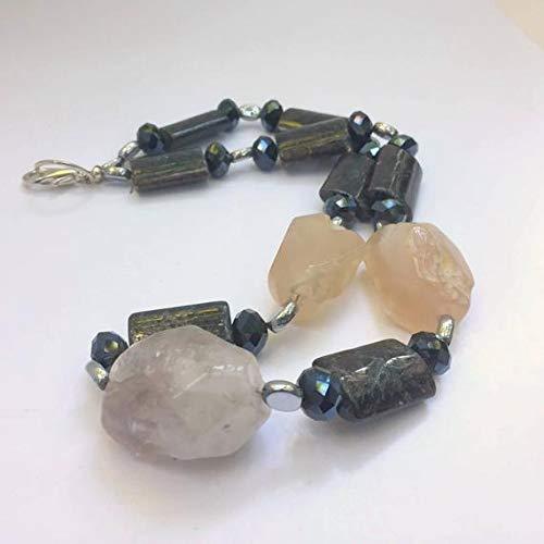 Huge rough amethyst and rose quartz nuggets
