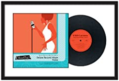MCS Deluxe Record Album Frame displays both your album and its cover. The frame includes a double bevel mat, the top being white with black bottom to better highlight the display. The overall dimension of the frame is 25 by 16.5 inch and fits...