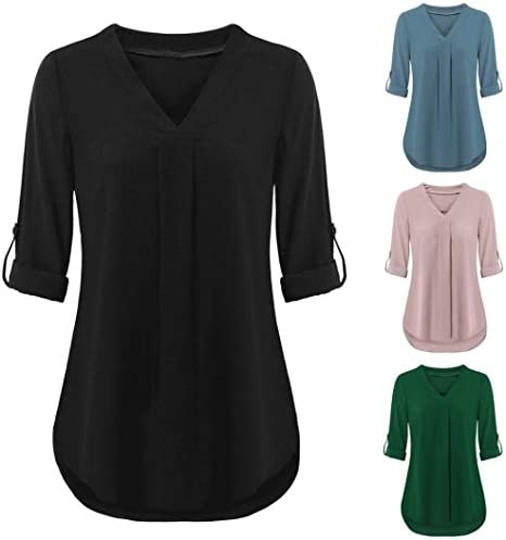 Hemlock Women V Neck Blouse T Shirt Long/Short Sleeve Office Work Shirts Tees Plus Tops Tanks Pullovers Coats