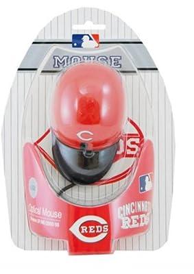 Cincinnati Reds MLB Baseball Cap Hat Computer USB Optical PC Scroll Wheel Mouse