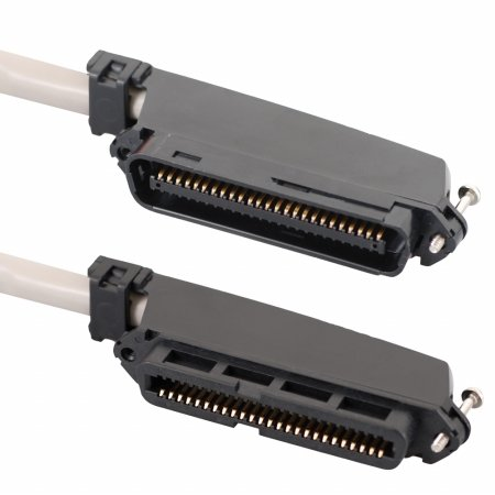 ICC ICPCSTFM15 Female To Male 50 Pin Telco connectors CAT 3 Telco cable, 15 ft.