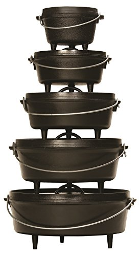 Lodge Camp Dutch Oven Lid Lifter Black 9 MM Bar Stock for Lifting and Carrying Dutch Ovens Black