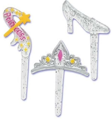 Unbranded Princess Party Slipper Crown Wand (12) Cupcake Cake Pops Topper Decor Pics Picks