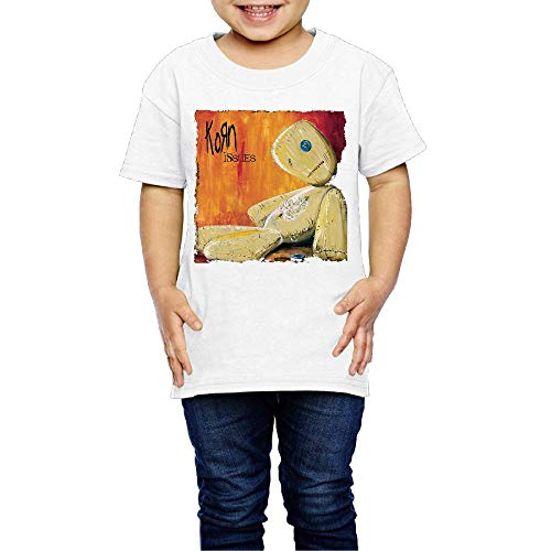 Baby Korn Issues Funny Short Sleeve Top T-Shirts Boys Girls Sports Tees 4 Toddler White (Korn T-shirts Printed)