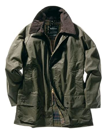 Barbour Men's Classic Beaufort Jacket, Olive, 44 - Beaufort Waxed Cotton Jacket