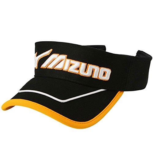 ミズノ(MIZUNO) メンズ ゴルフ 帽子 ボア搭載サンバイザー (52MW7022) ブラック フリー