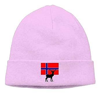 Norwegian Flag Deer Unisex Wl Flock Cotton Knit Winter