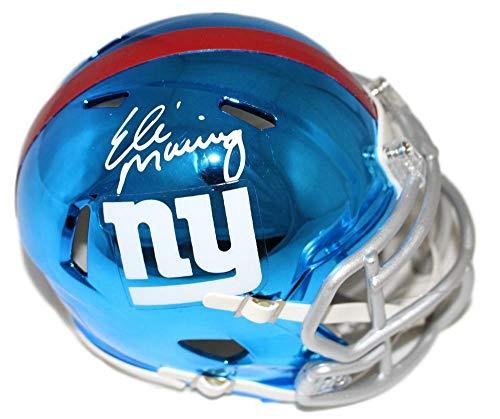 - Eli Manning Autographed/Signed New York Giants Chrome Mini Helmet Steiner