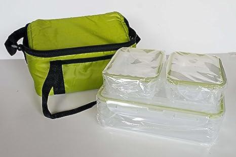 Bolsa térmica con 3 tuppers (2 UNIDADES): Amazon.es: Hogar