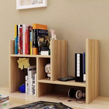 Desktop Multi Organizer Purpose Wood (VONOTO New Wood Desk Storage Organizer Adjustable Desktop Display Shelf Rack Multipurpose Bookshelf for Office Kitchen (Light Walnut))