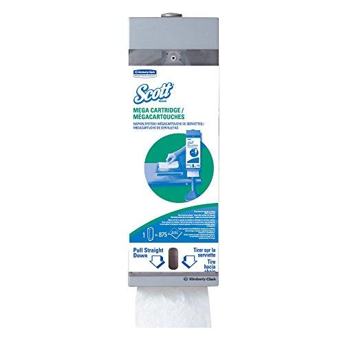 "Kimberly Box Clark Refill (Scott Mega Cartridge Napkin Dispenser System (09023), For Scott Disposable Paper Napkins, 8"" x 22.6"" x 5.7"", 1 Kit/Case)"