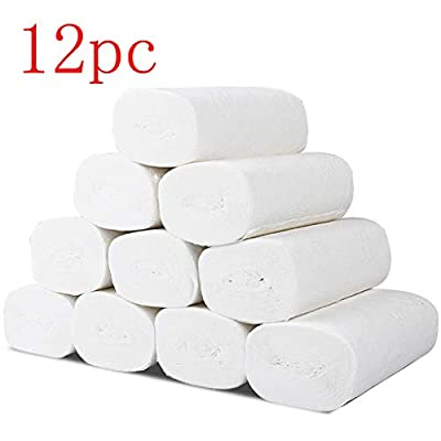 12 Packs Paper Towels Soft Toilet Paper White Household Three-Layer Paper Towels Soft Skin-Friendly: Kitchen & Dining