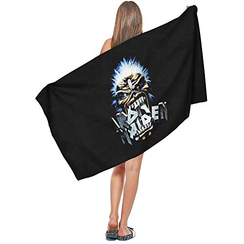 FUSHOPed Multipurpose Super Water Absorbent Microfiber Towel Popular Album Cover Large Bath Sheet for Beach,Travel,Gym,Yoga and Sports (27.5 X 55.1 Inch)