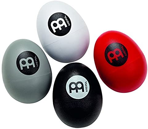 Meinl Percussion ES-SET Cajon Player's Four Piece Multi-Colored Egg Shaker Set with Different Volumes (VIDEO)